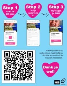 Deur-aan-deur donateurswerving via QR-code